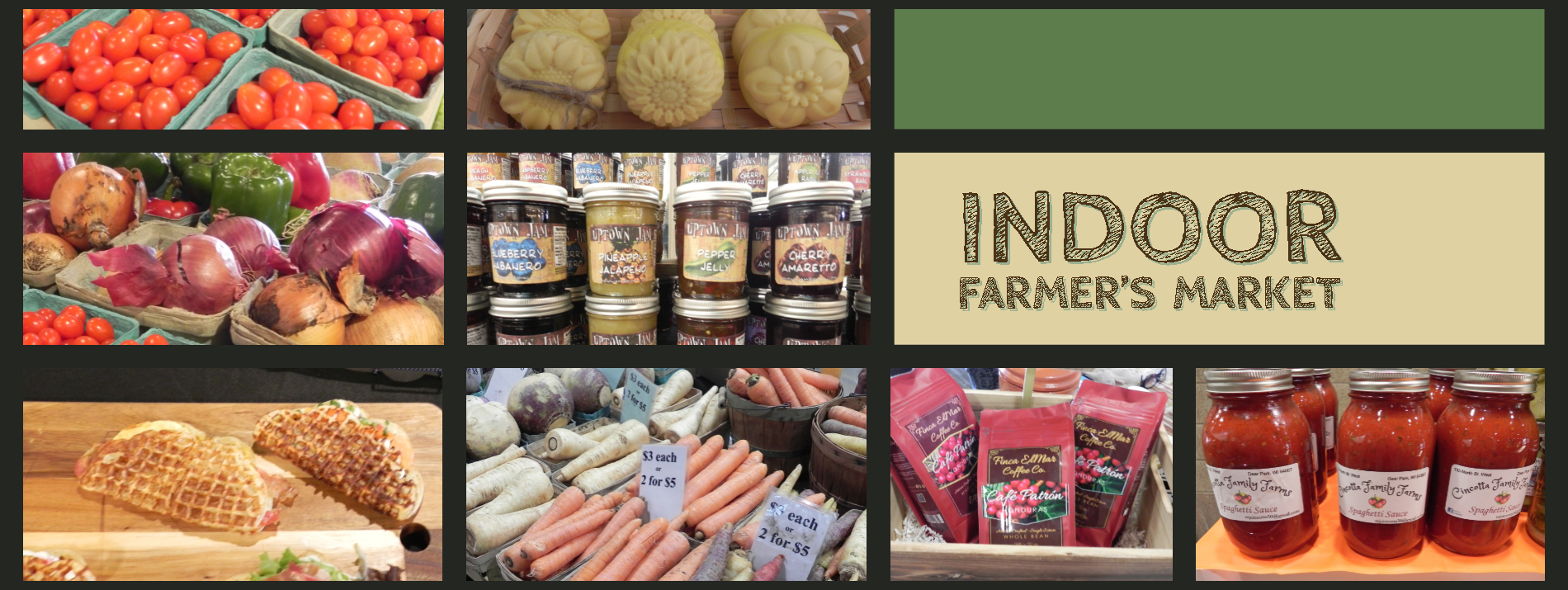 Indoor Farmers Market items