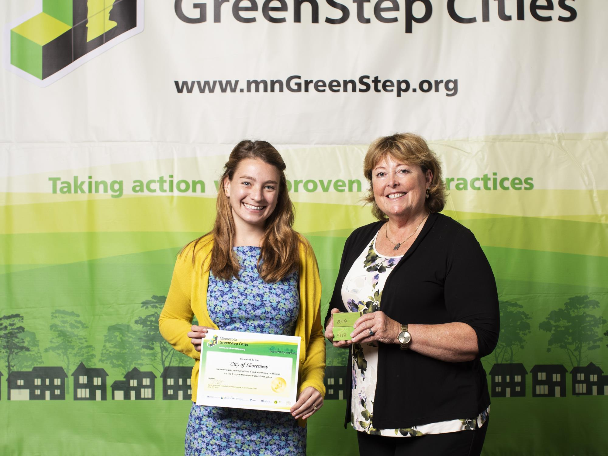 Green step city award presentation