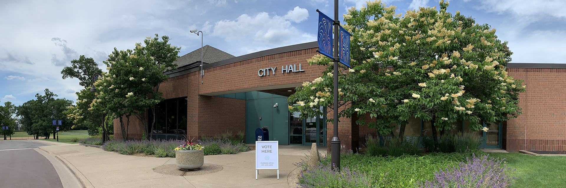 City Hall outdoor entrance with a